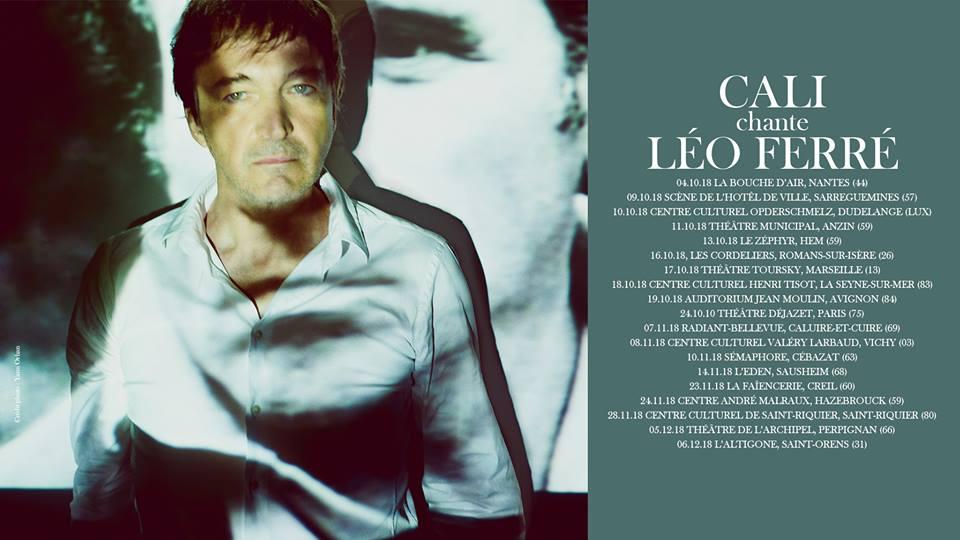 Cali chante Léo ferré, tournée 2018